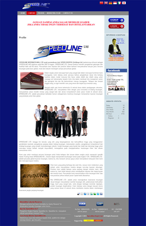 SpeedLine Kepri – Website Investasi Global