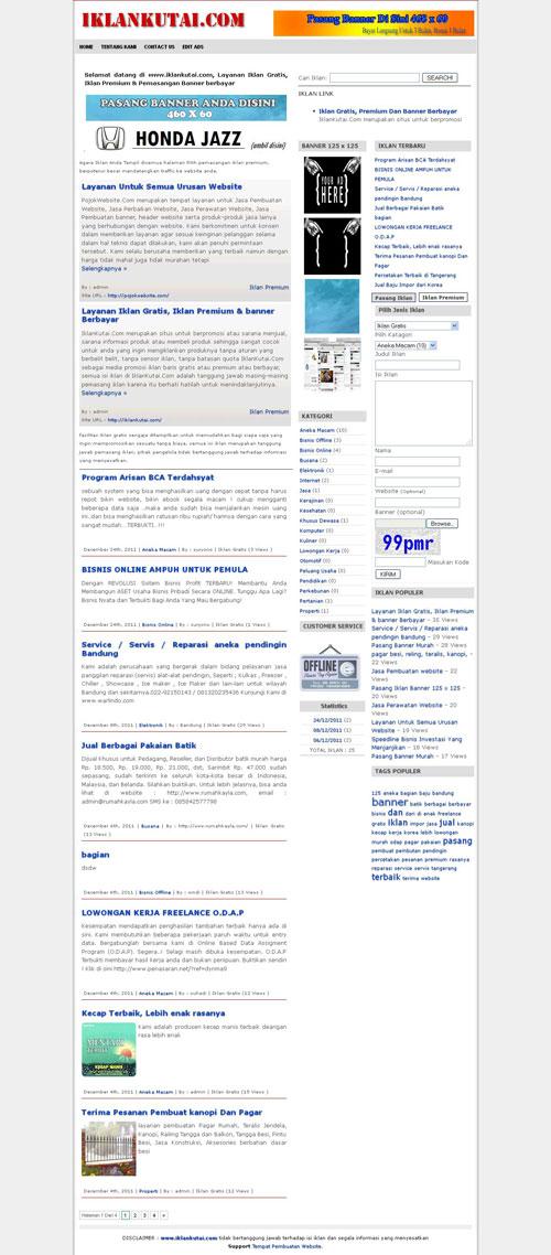 IklanKutai.Com > Layanan Iklan Baris Gratis & Premium