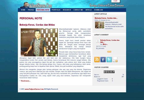 PakJarotSuroso.Com > Website Profile Milik  IR. H.M Pak Jarot S Suroso M.Eng