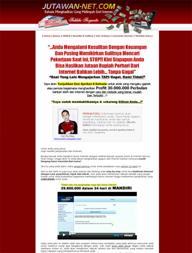 Jutawan-net[dot]Com | Belajar Bisnis Online