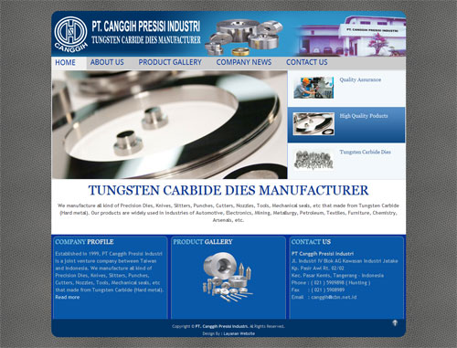 Pembuat Peralatan Industri, Tungsten Carbide Dies