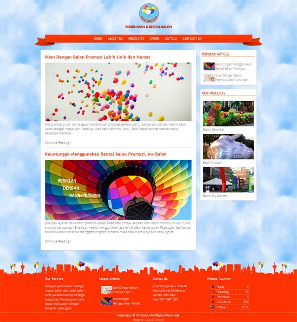 Pabrik Balon, Terima Pembuatan Balon Custom dan Rental Balon Promosi