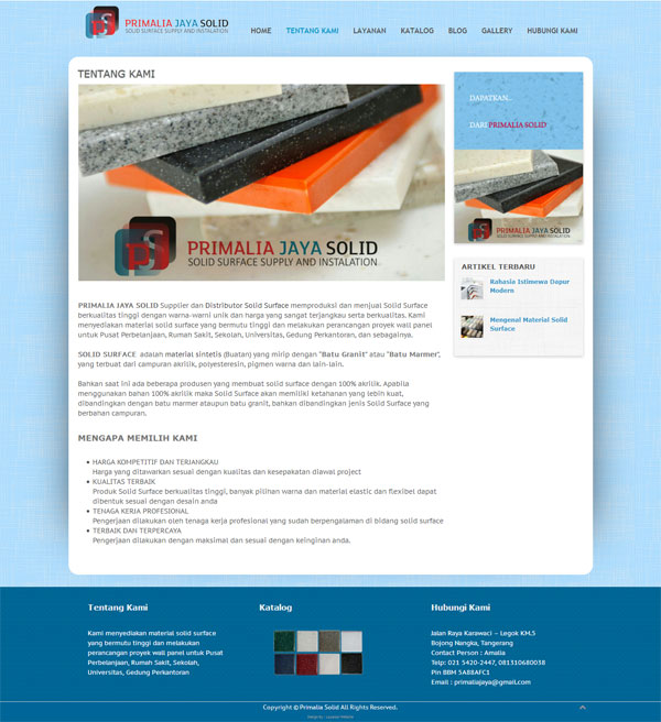 Distributor Solid Surface, Sedia Material Solid Surface Berkualitas